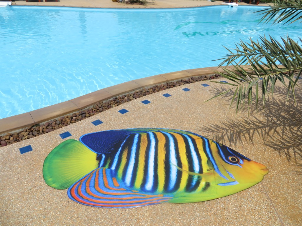 Royal Angelfish, Beach Mat by Liivi Leppik