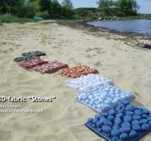 Värvilised kivikangad rannal