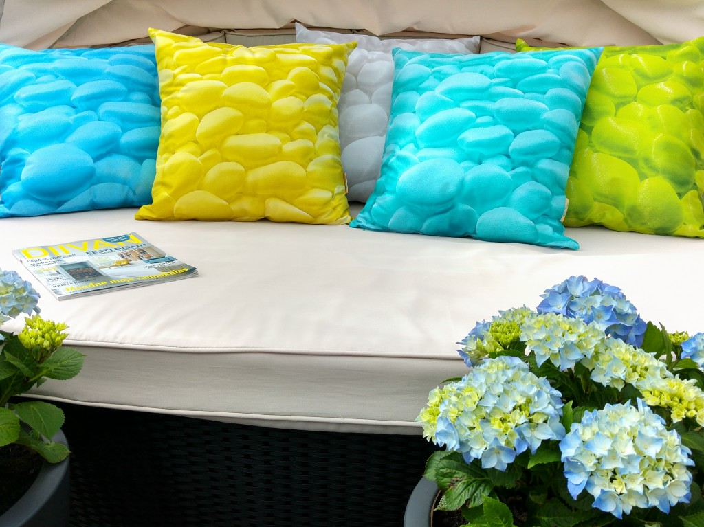 Decorative Pillow Collection, Spring by Liivi Leppik