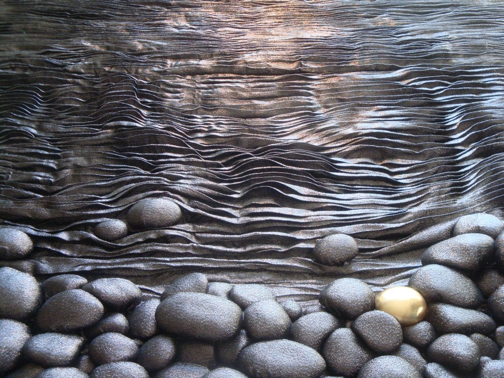 3D Textile Art / 3D Textile Stones by Liivi Leppik