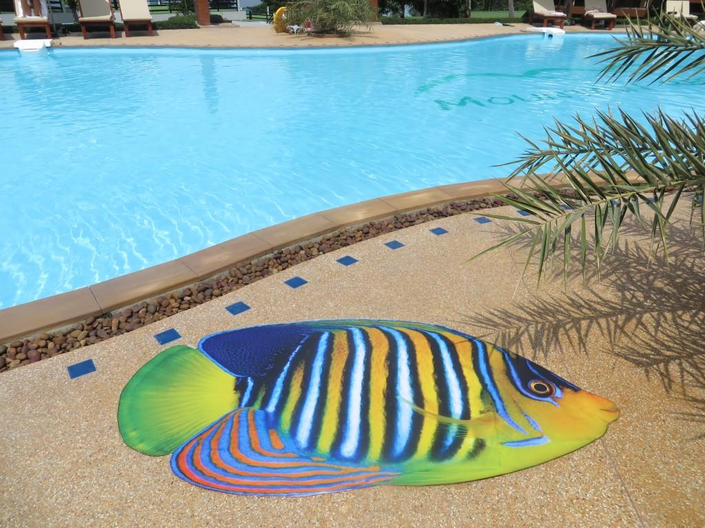 Royal Angelfish, Beach Mat by Liivi Leppik