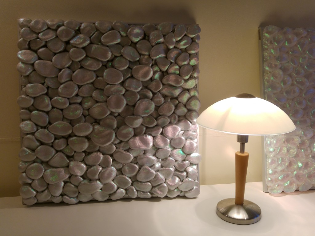 3D Textile Art/Stones by Liivi Leppik