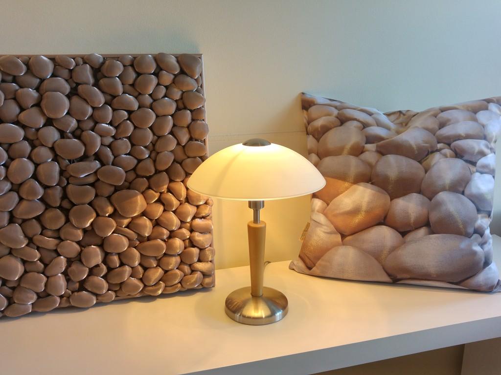 3D Textile Stones, beige, by Liivi Leppik