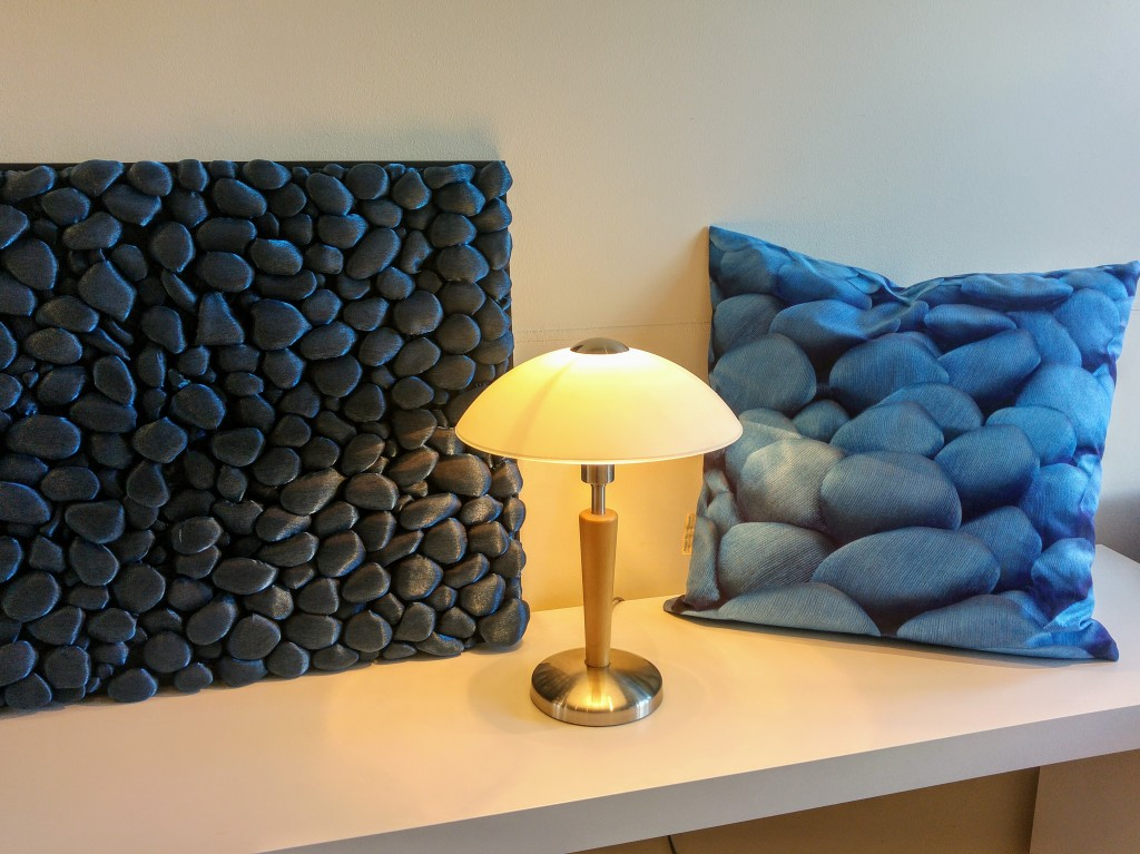 3D Textile Stones, decorative pillow by Liivi Leppik