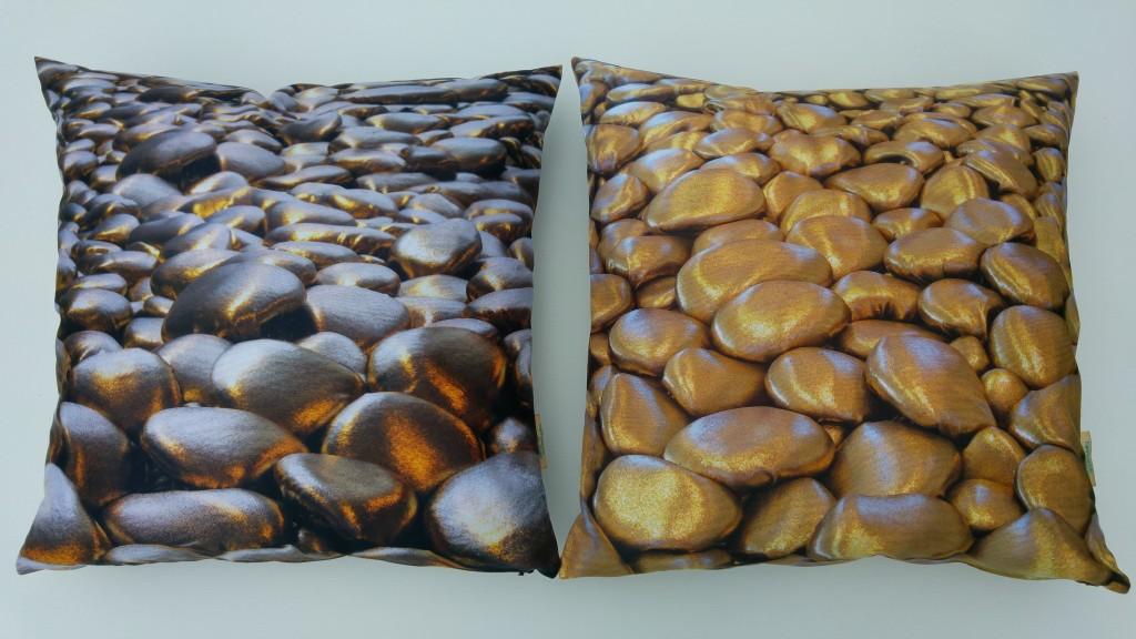3D Textile Dream, dark and light brass, by Liivi Leppik