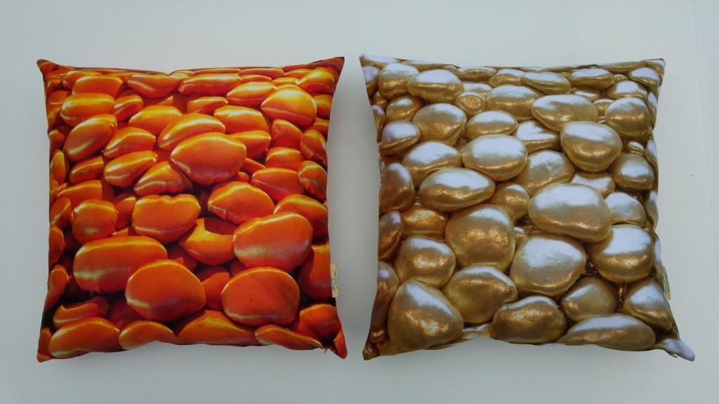 3D Textile Dream, orange and golden, by Liivi Leppik