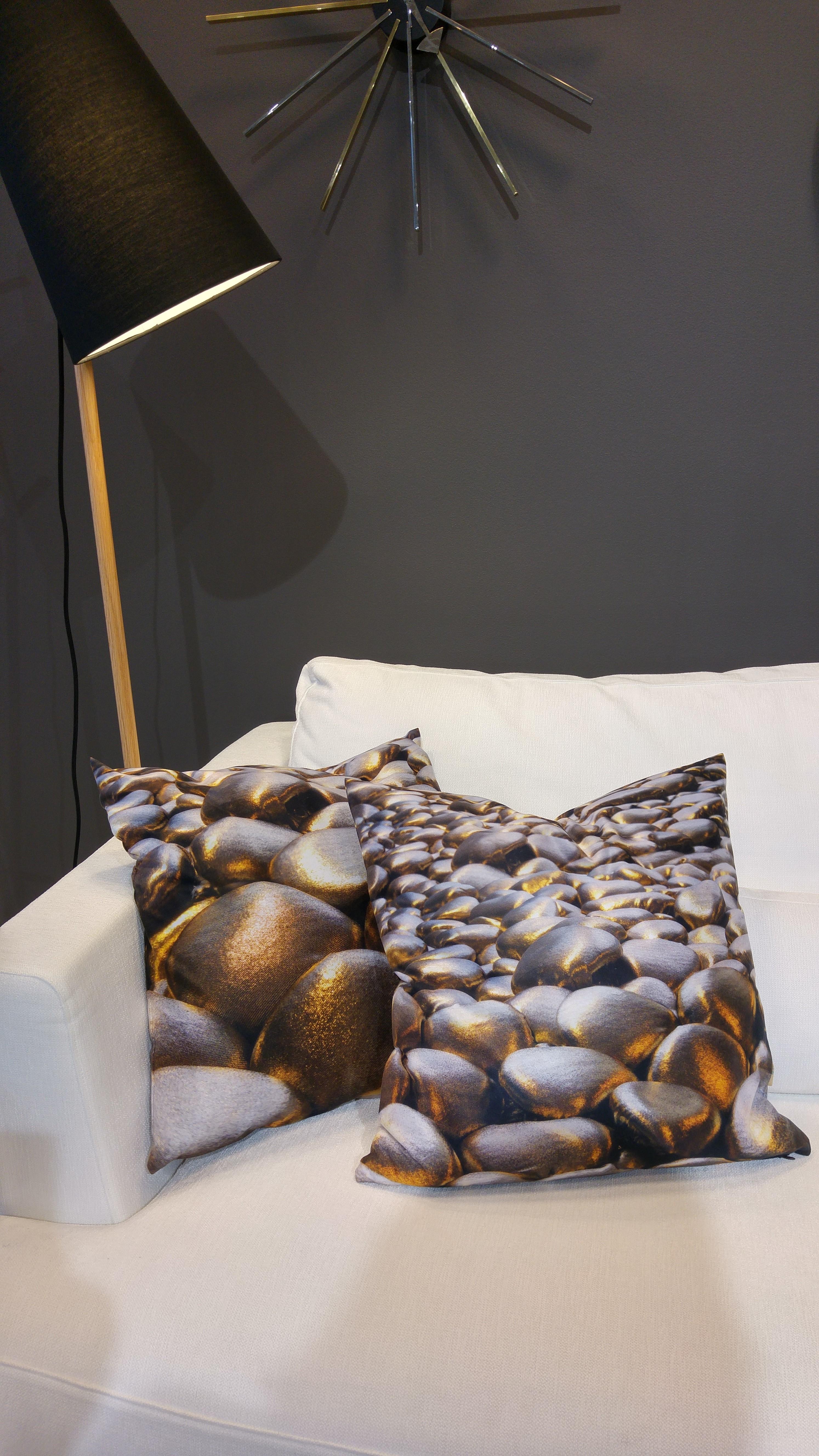 3D Textile Stones, Decorative Trio-2, by Liivi Leppik