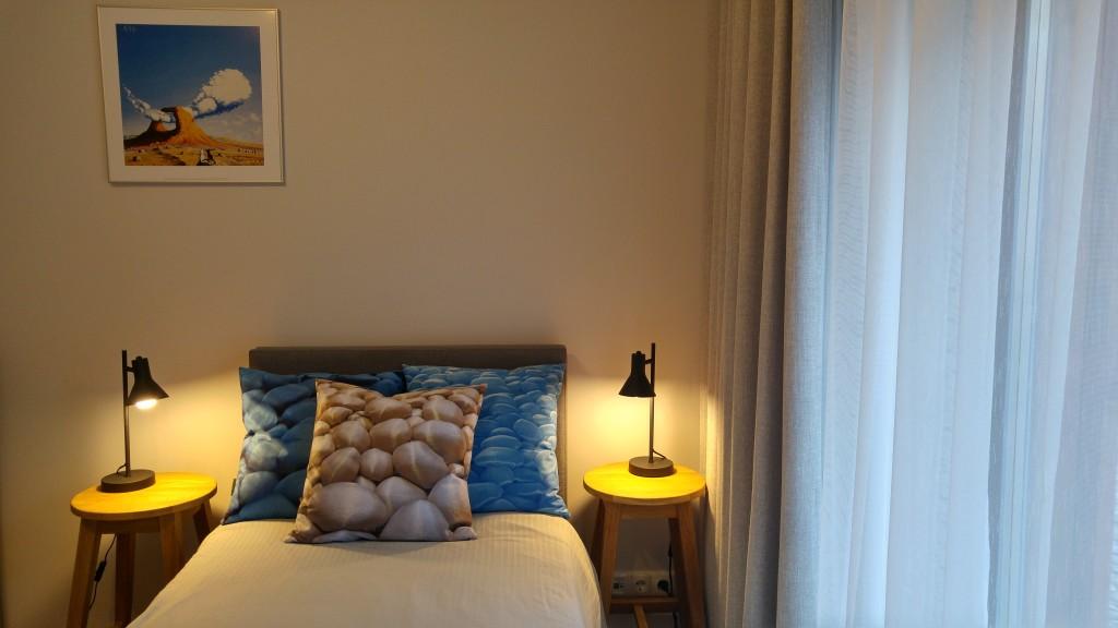 3D Decorative, beige and 2 blues, by Liivi Leppik