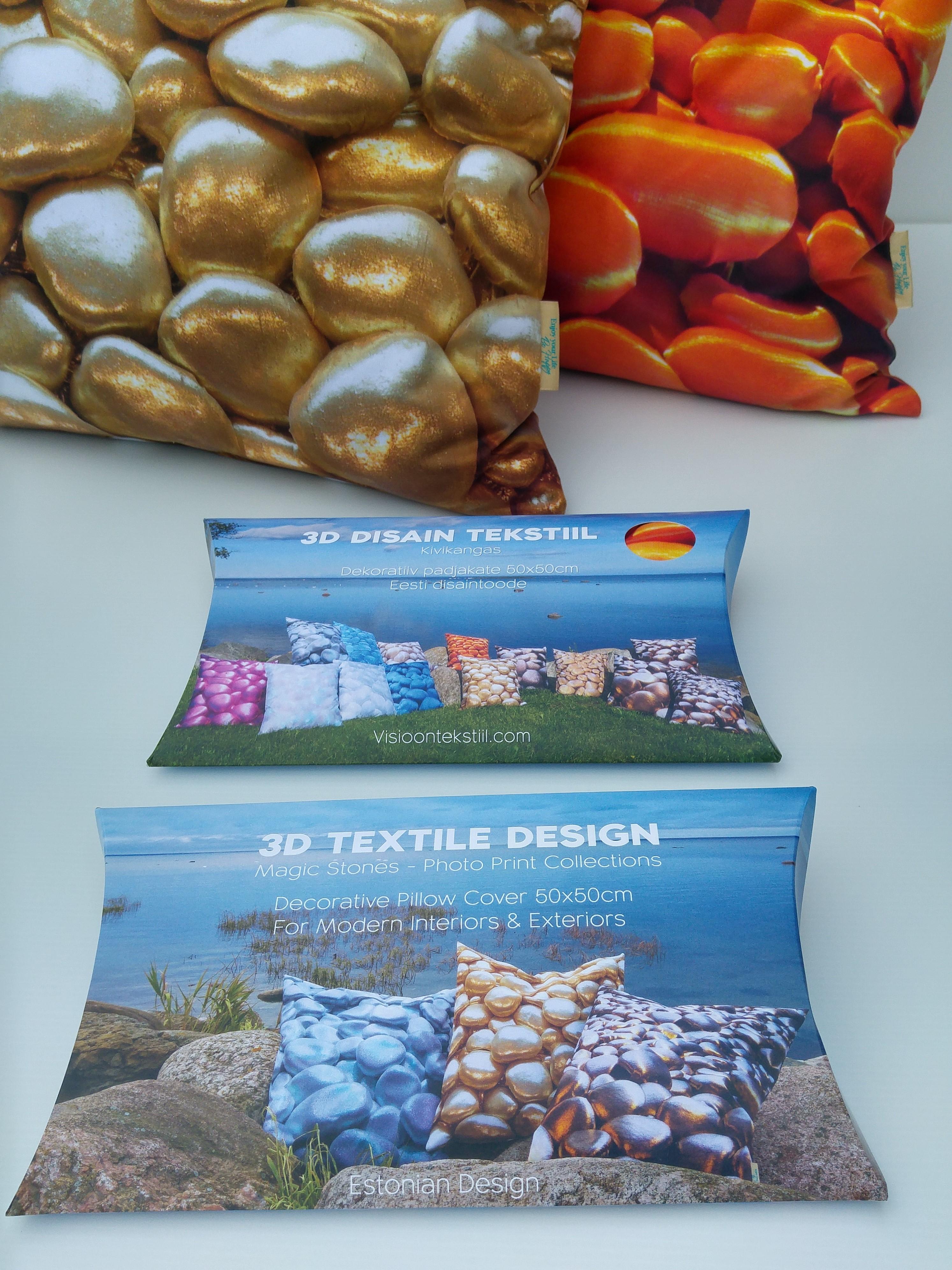 3D Design, Pillow Covers by Liivi Leppik