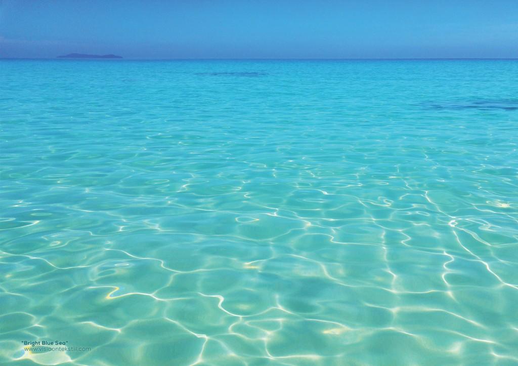 Bright Blue Sea, Peach Pareo by Liivi Leppik